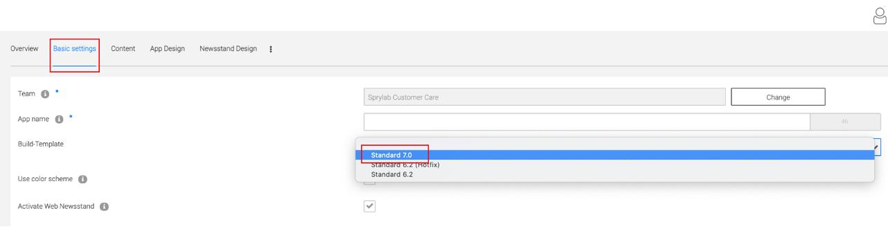 Ein Bild, das Text enthält.   <p>5. Gehen Sie zurück zur Übersicht und bauen Sie eine neue Version für IOS und Android</p>   <p style=