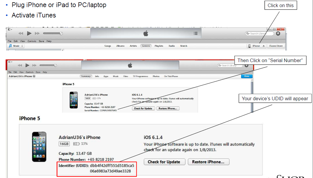 Retrieving your iPhone/iPad UDID – Tao Of Shop Support