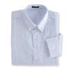 Men's Long Sleeve White Check Woven Shirt