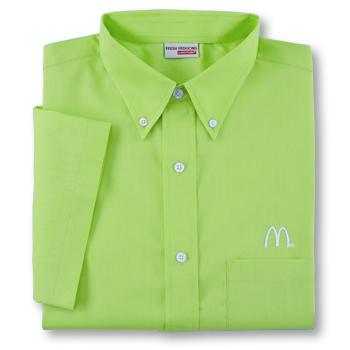 Men's Kiwi Green Short Sleeve Soft Touch Poplin