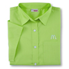 Ladies' Kiwi Green Short Sleeve Soft Touch Poplin
