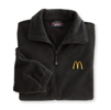 Black Men's Deluxe Fleece Jacket