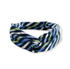 Ladies' Blue/Kiwi Stripe Knot Scarf