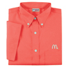 Men's Coral Short Sleeve Soft Touch Poplin
