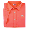 Ladies' Coral Short Sleeve Soft Touch Poplin