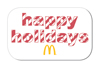Striped Happy Holidays Button