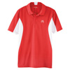 Men's Red/White Side Blocked Micropique Sport Shirt