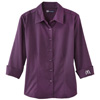 Purple Ladies' 3/4 Sleeve Twill Shirt