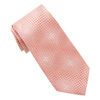 Men's Coral Micro Dot Tie