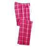 Pink Plad, Ladies' Plaid Flannel Pant