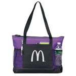 Purple Zippered Tote