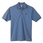 Blue Izod Men's Argyle Performance Pique