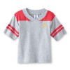 Heather/Red Youth V-Neck T-Shirt