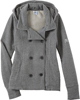 Grey Ladies' Textured Fleece Pea Coat