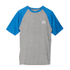 Raglan Blue Sleeve Athletic T-Shirt