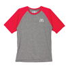 Raglan Unisex  Red Sleeve Athletic T-Shirt