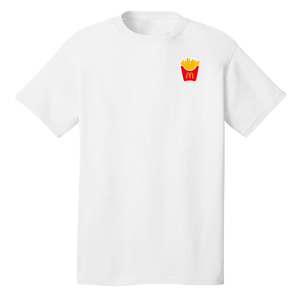 Classic White T-Shirt with Fry Box
