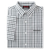 Men's Tricolor White Check Short Sleeve Poplin