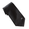 Men's Solid Black Arch Tie