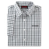 Ladies' Tricolor White Check Short Sleeve Poplin