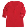 Red Ladies' Twisted Knot Sweater