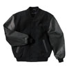 Black Wool & Leather Letterman Jacket