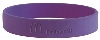 Purple i'm lovin' it Silicone Bracelet
