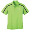Men's Lime/Steel Grey Performance Color Block Stripe Sport Shirt