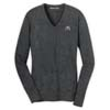 Charcoal Heather Ladies' V-Neck Sweater