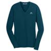 Blue Ladies' V-Neck Sweater