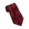 Men's Burgundy Argyle Tie