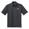 Mens Nike Dark Gray Golf Texture Sport Shirt