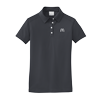 Ladies Dark Gray Golf Shirt