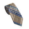 Men's Khaki Check Tie