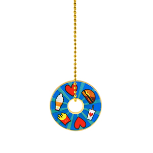 McDonald's Blue Icon Charm Necklace
