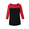 Ladies Color Block 3/4 Sleeve T-Shirt