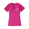 L. Nike Fuchsia Golf Dri-Fit Stretch Woven  V-Neck Top