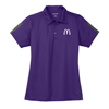 L. Purple/Charcoal  Active Textured Color Block Sport Shirt
