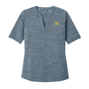 Ladies' Stretch Heather Top Ocean Blue