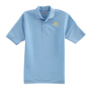 Men's Blue Tonal Stripe Polo