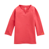 Ladies' Jersey Knit Split Neck Coral Top