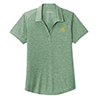 Ladies' Tri-Blend Forest Heather Polo
