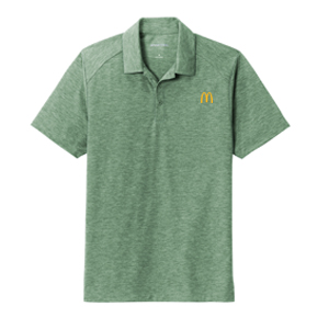 Men's Tri-Blend Forest Heather Polo