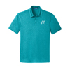 Men's Tropical Blue Heather Performance Trace Heather Sport Shirt