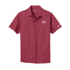 Men's Red Nike Golf Dri-Fit Embossed Sportshirt