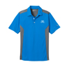 Men's Blue/Dark Gray Nike Golf Dri-Fit Engineered Mesh Sportshirt