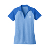 Ladies Royal Blue Heather/Blue Block Sport Shirt