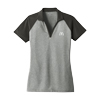 Ladies Grey RacerMesh Heather Block Shirt