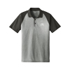 Men's Grey RacerMesh Heather Block Sport Shirt