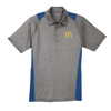 Men's Heather Gray/Royal Blue Side Color Block Sport Shirt